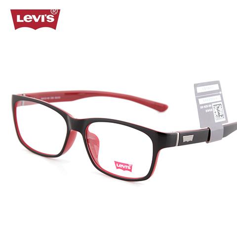 李维斯    LS03006   男女通用   眼镜框   C03外黑内红