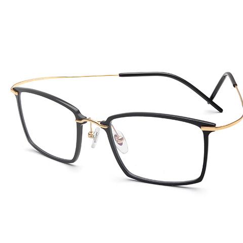 亿超 尼龙+钛 全框眼镜框 黑金色 潮流男士 FB6176C1