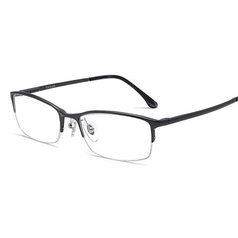 亿超 合金 半框眼镜框 枪色 商务男士 FB2033C02