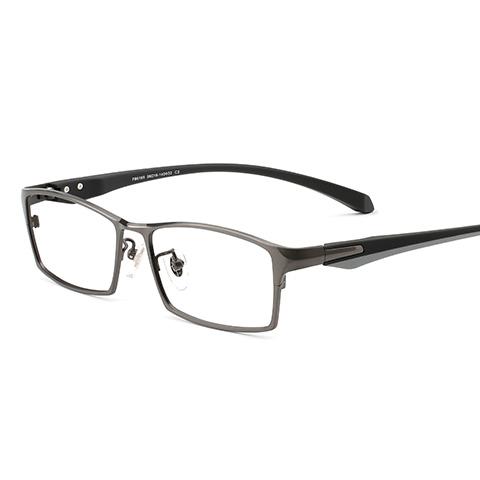 亿超 纯钛 全框眼镜框 枪色 商务男士 FB6169C03