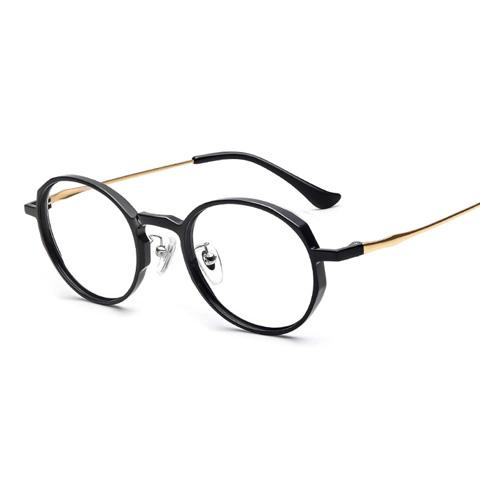 亿超 TR-90 全框眼镜框 亮黑金色 百搭男女款  FG80078C01