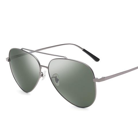 亿超TR90偏光太阳镜墨绿片枪色简约男女通用 YC9605C01