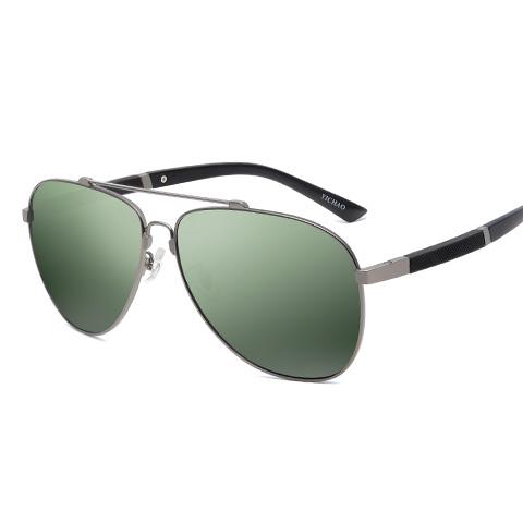 亿超合金+TR90偏光太阳镜墨绿片枪黑色简约男女通用YC9602C01