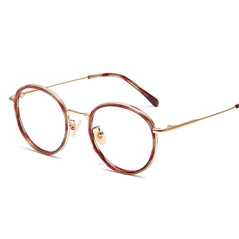 亿超 板材+合金 全框眼镜框 花玳瑁 潮流男女款 FB5078C04