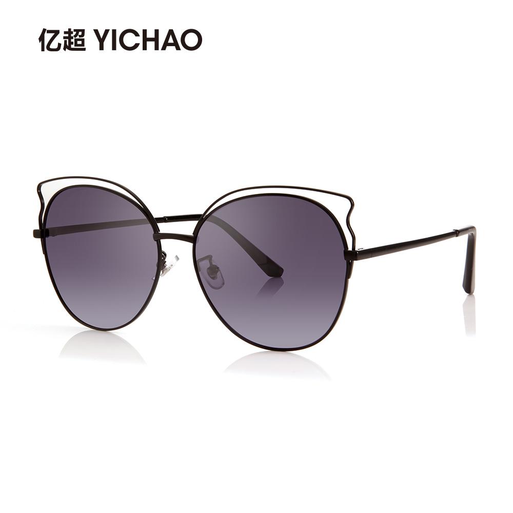亿超新款太阳眼镜女时尚圆框偏光墨镜网红猫眼粉色复古韩版潮个性