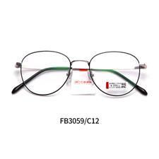 亿超合金FB3059  C12黑银 全框超轻眼镜架 男女同款