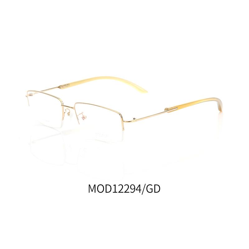 莫德MOD12294GD金色男士商务半框