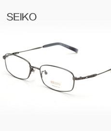 精工H1060C74枪色 纯钛眼镜 男士框架眼镜