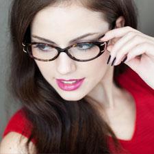 亿超FB5001C1黑色 近视女款 大框 休闲 全框板材 中码眼镜架
