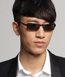 亿超1680C02枪色合金板材眼镜 夏日防晒 双用男士眼镜