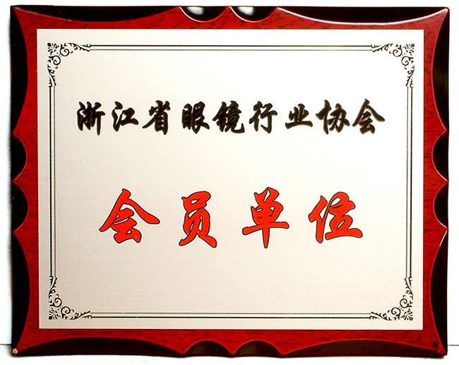 亿超眼镜成为浙江省眼镜协会会员单位