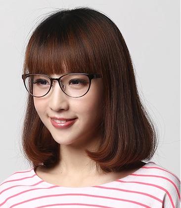 眼镜框女生图片_小脸型女生适合什么眼镜框?_亿超眼镜网