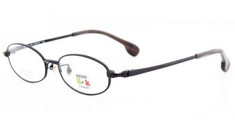 精工椭圆框女士商务纯钛眼镜
