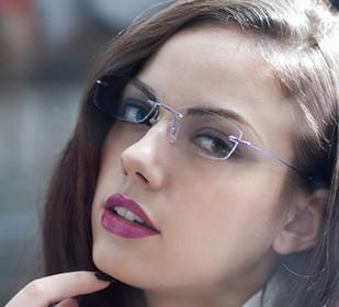 亿超无框女士纯钛商务眼镜