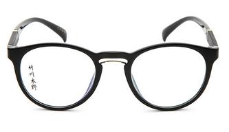 竹川木野复古圆框眼镜架